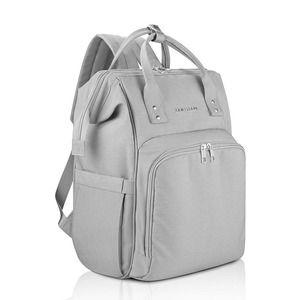 AMILLIARDI Diaper Bag Backpack Grey Insulated New